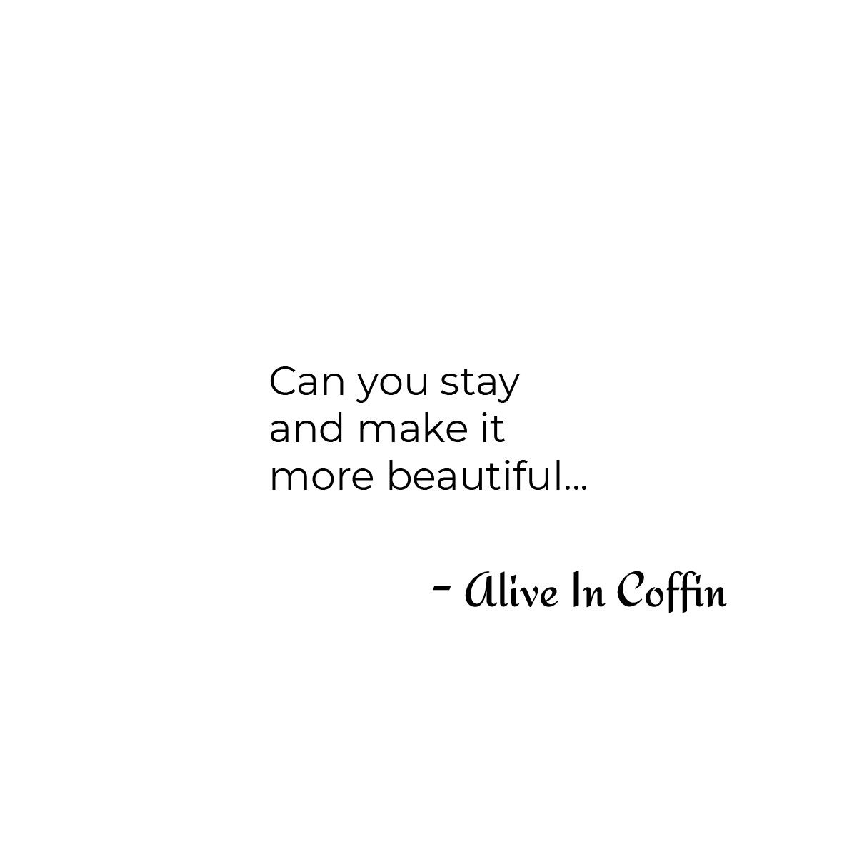 A question to make the relationship more beautiful.