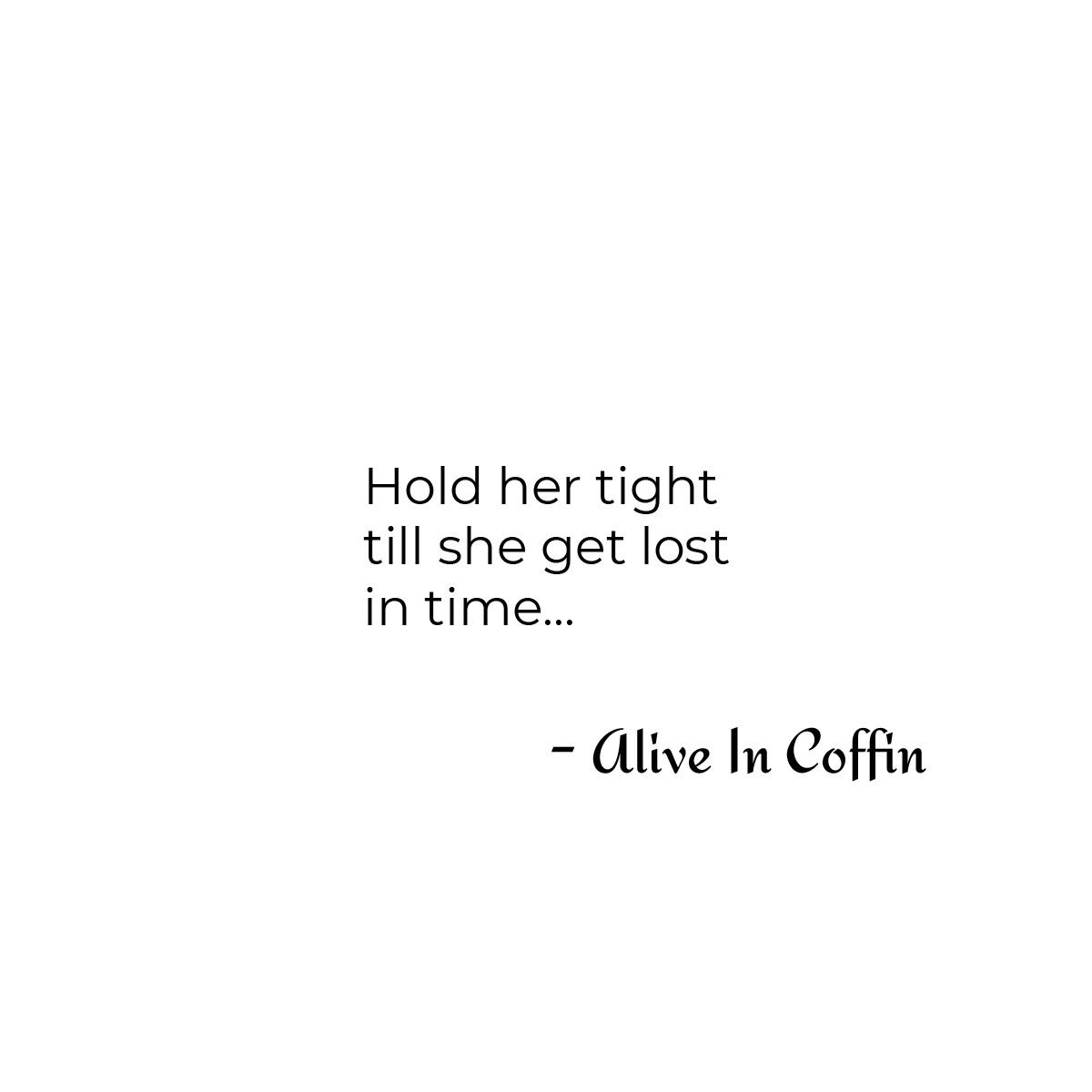A romantic short poem about holding her.