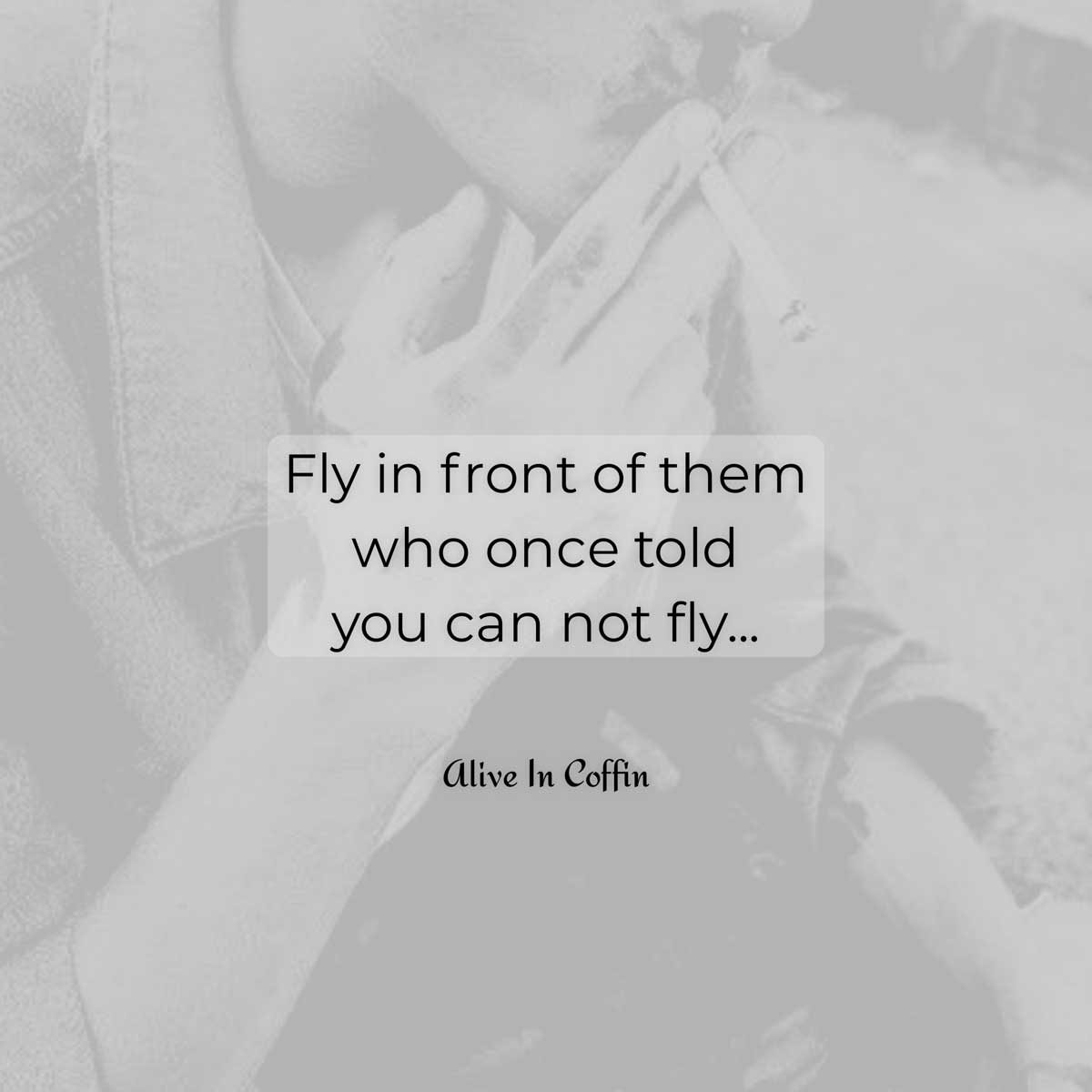 A poem about where and when to fly.