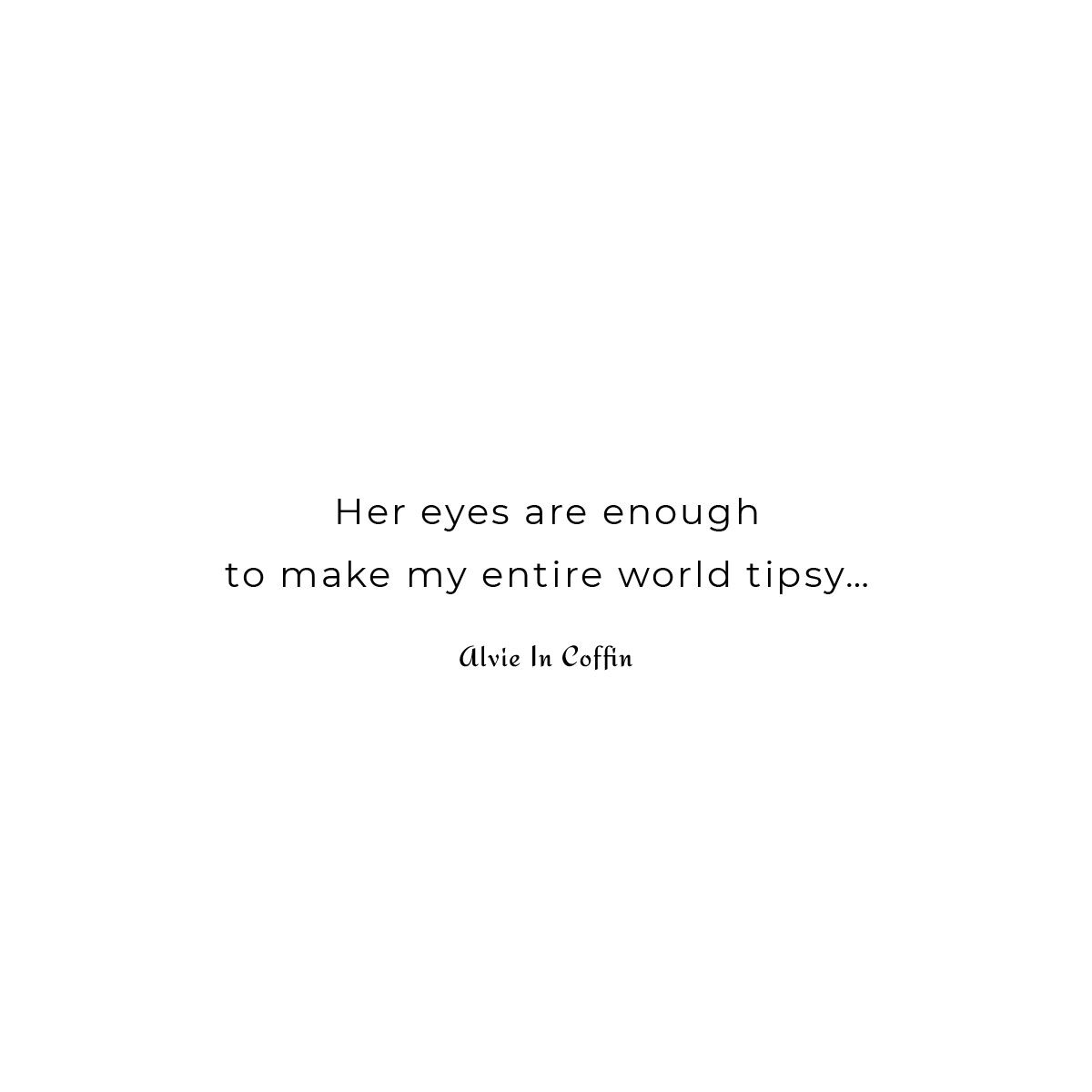 Magic of her eyes is a short romantic poem