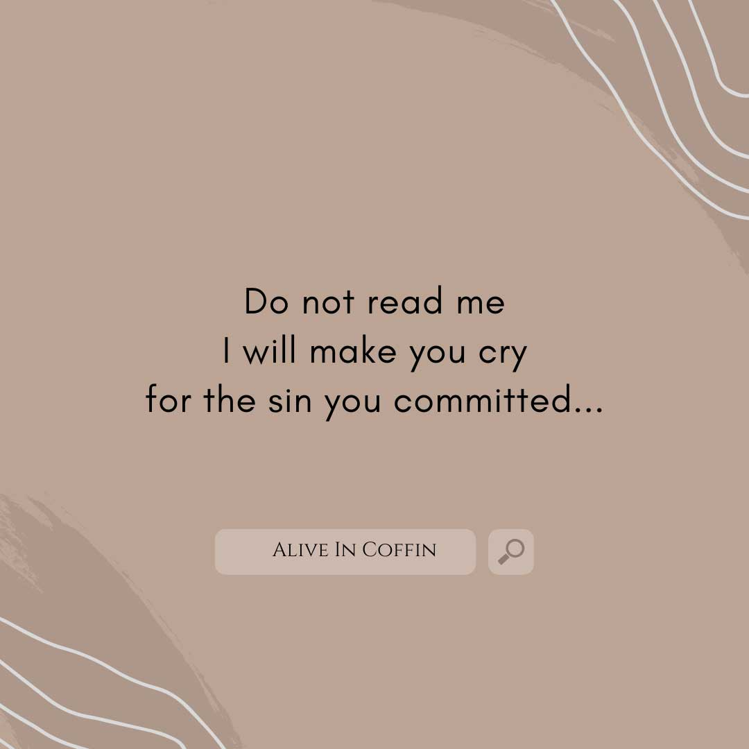 Do Not - Sad Poems That Make You Cry